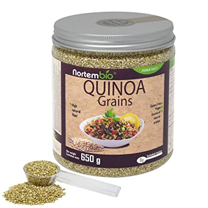 Semillas de Quinoa NortemBio 650 g, Calidad Premium. 100% natural. Excelente Fuente
