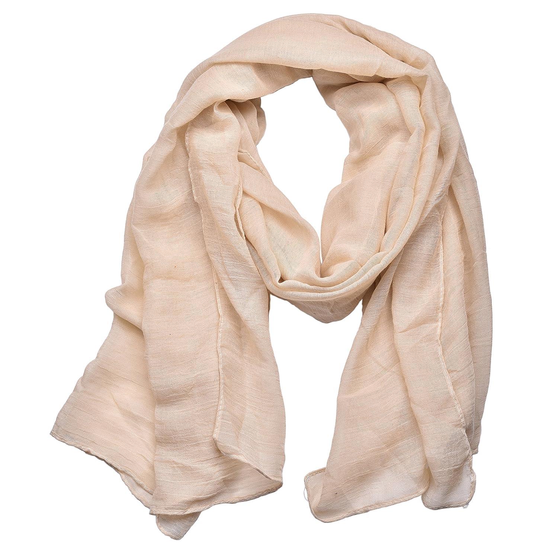 8fe188b8af3 Outrip Womens Cotton Scarves Ladies Light Soft Fashion Scarf Neck Solid  Wrap Shawl