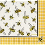 5 Paper Party Napkins Busy Bees Collage Bee Pack of 5 3 Ply Tissue Serviettes