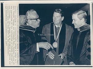 1967 WireVintage Photo Politics Everett Dirksen Eureka IL Ronald Reagan Governor 8x10