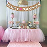 Wobbox Baby Shower Banner Party Decoration, Pink