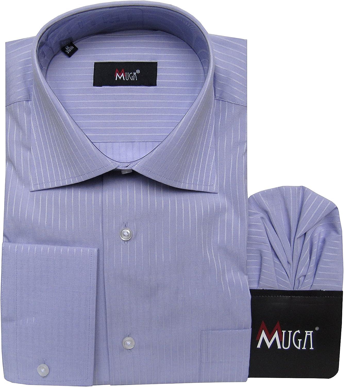 mmuga Business y tiempo libre rayas Camisa, color lila claro ...
