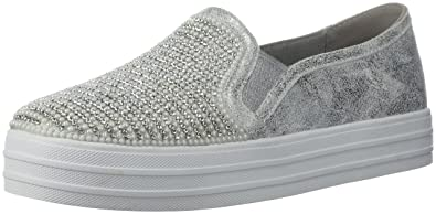 Women Satin Ribbon Slip on Low Top Sneaker - HF77 by Wild Diva Collection