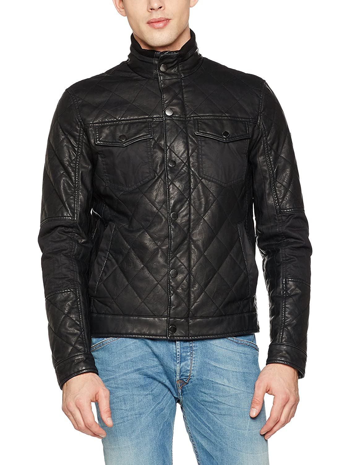 Guess Chaqueta Diamond Quilted PU: Amazon.es: Ropa y accesorios