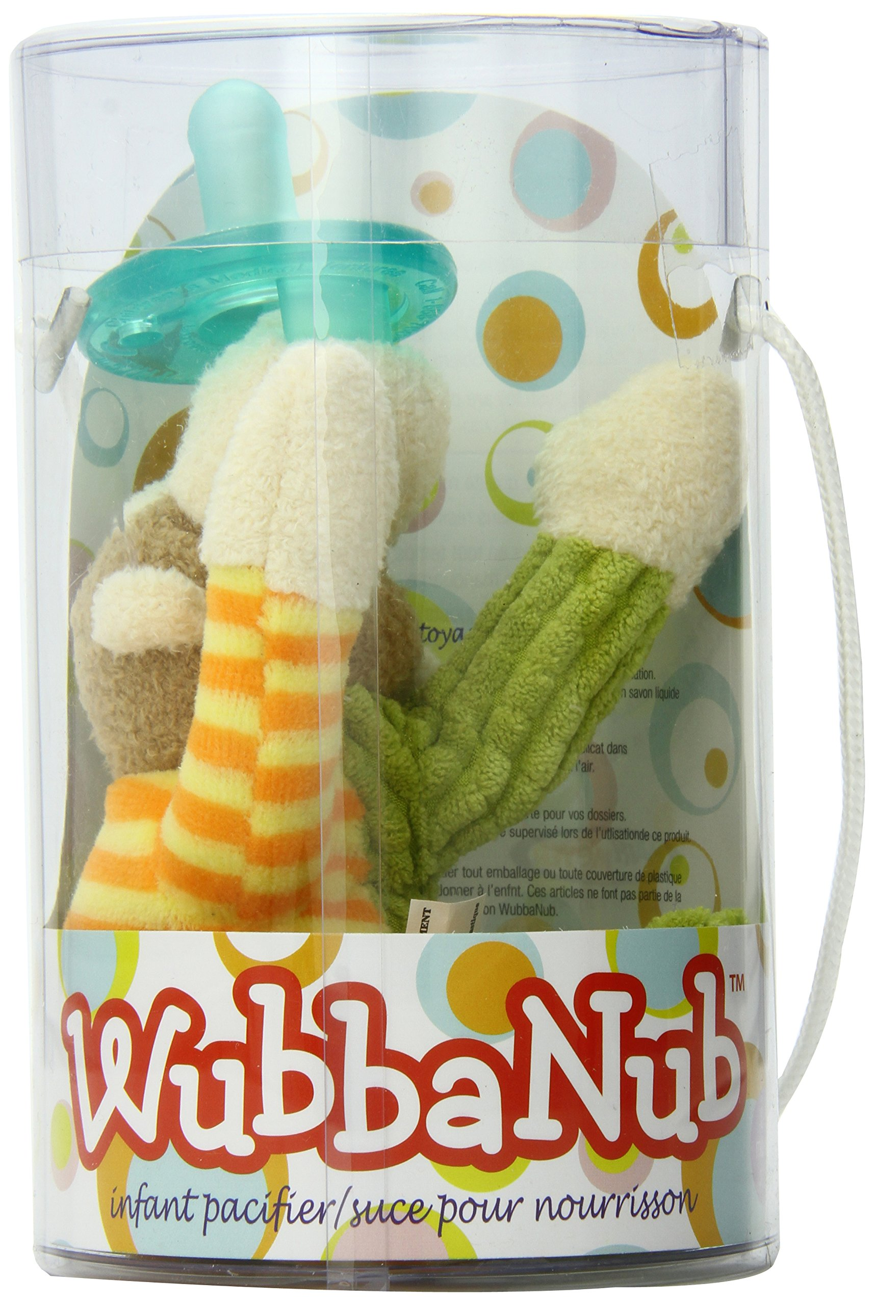 Mary Meyer WubbaNub Soft Toy and Infant Pacifier, Mango Monkey by Mary Meyer