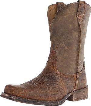 ARIAT Men's Rambler Wide Square Toe Western Cowboy Boot