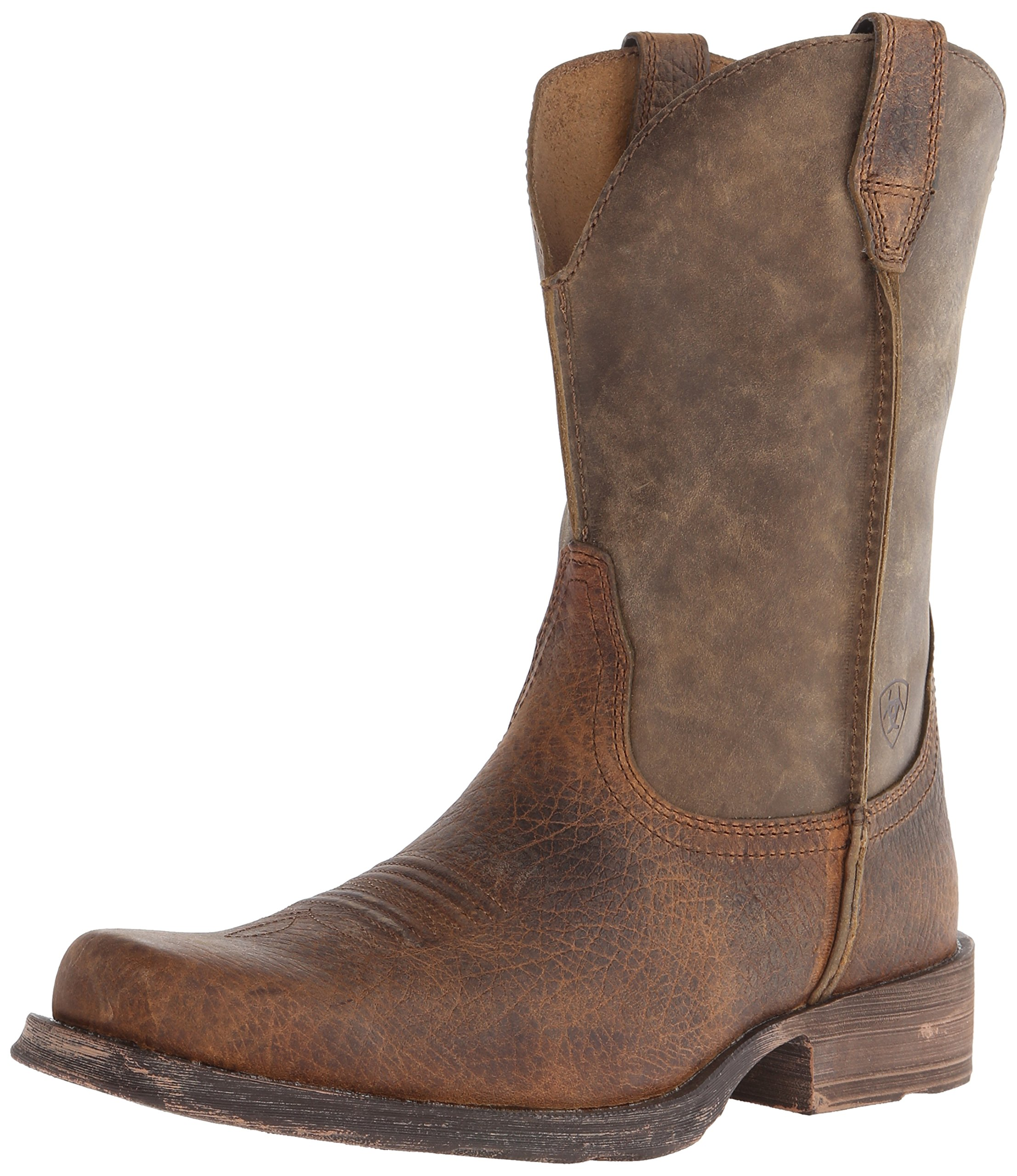 Ariat Men's Rambler Wide Square Toe Western Cowboy Boot, Earth/Brown Bomber, 10 M US