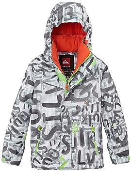 Quiksilver Mission Printed Y - Chaqueta de esquí para niños, color blanco (the line