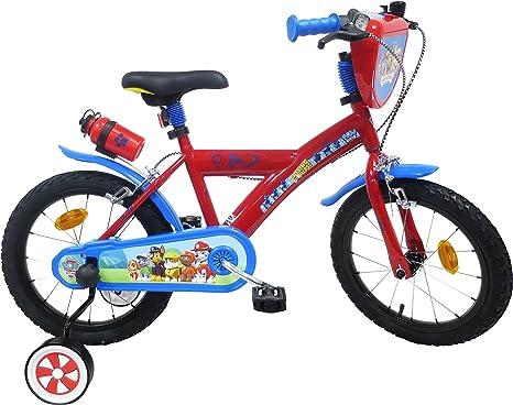 Paw Patrol - Bicicleta Infantil de 16 Pulgadas, Multicolor: Amazon.es ...