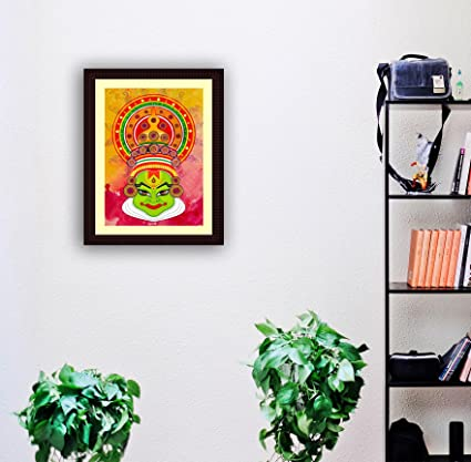Tamatina Framed Canvas Painting - Face of Kathakali - Modern Canvas ...