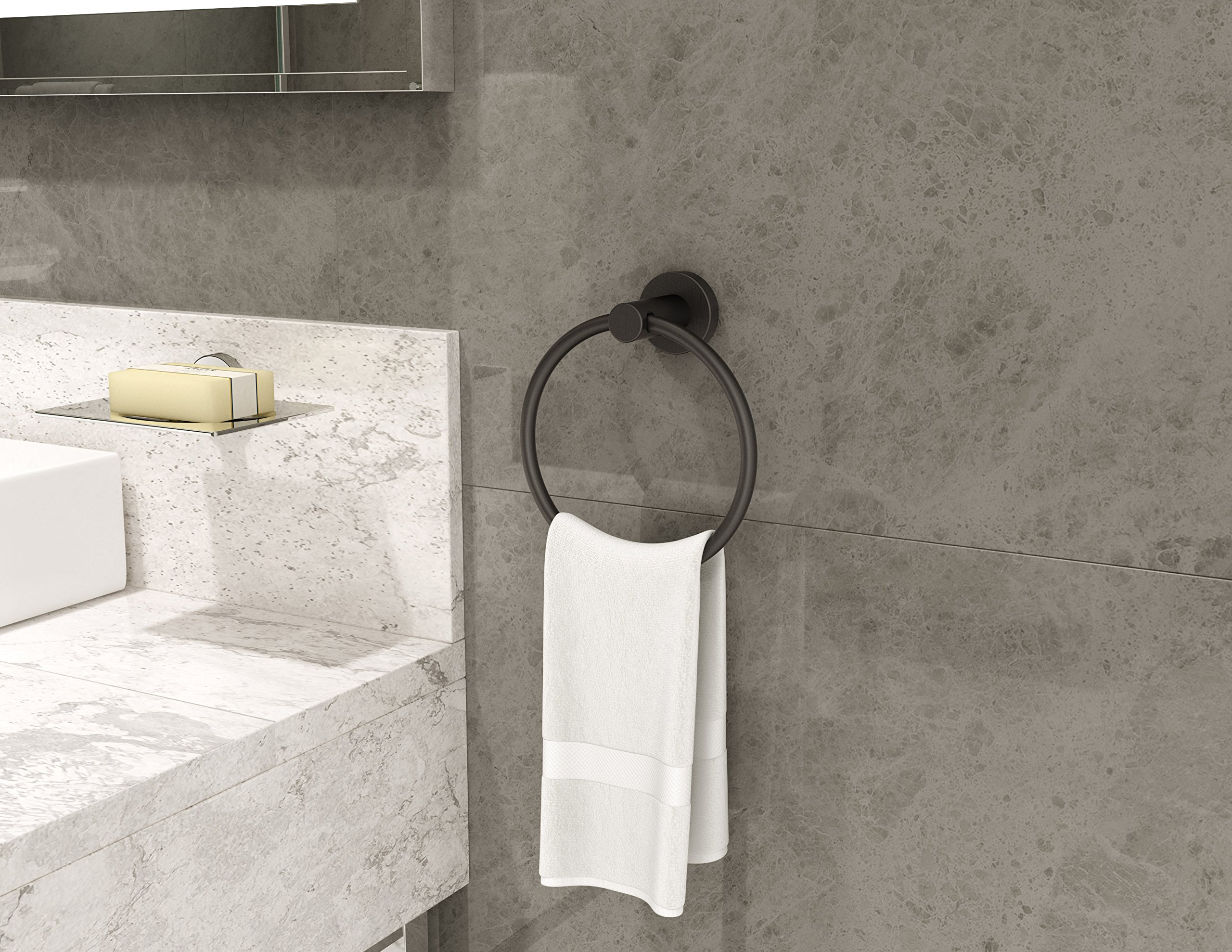 Symmons 353TR-MB Dia Towel ring Matte Black by Symmons (Image #2)