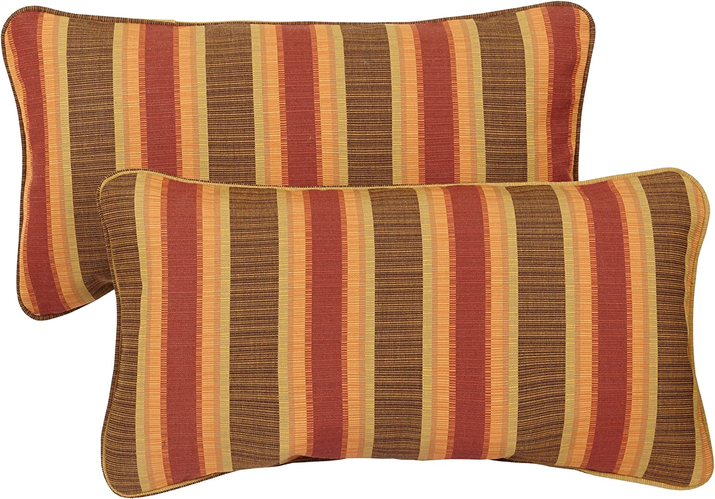 Mozaic Company Sunbrella Indoor Outdoor 12 By 24 Inch Corded Pillow Dimone Sequoia Set Of 2 Garden Outdoor Amazon Com