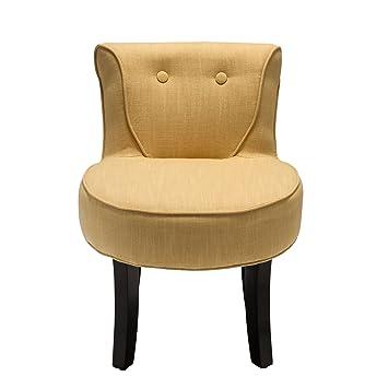Rendez vous déco Petit fauteuil crapaud lin moutarde Amazon