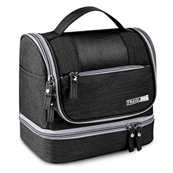 6c0c6b610095 Ceephouge Travel Toiletry Bag, Compact Business Dry Wet Separated  Toiletries Organizer Bags with...