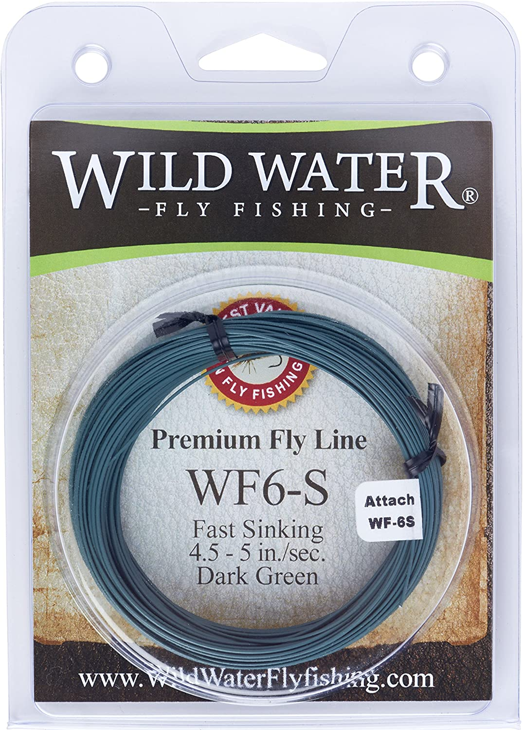 Premium 100FT Weight Forward Sink Fly Fishing Line WF 5S//6S//8S Black