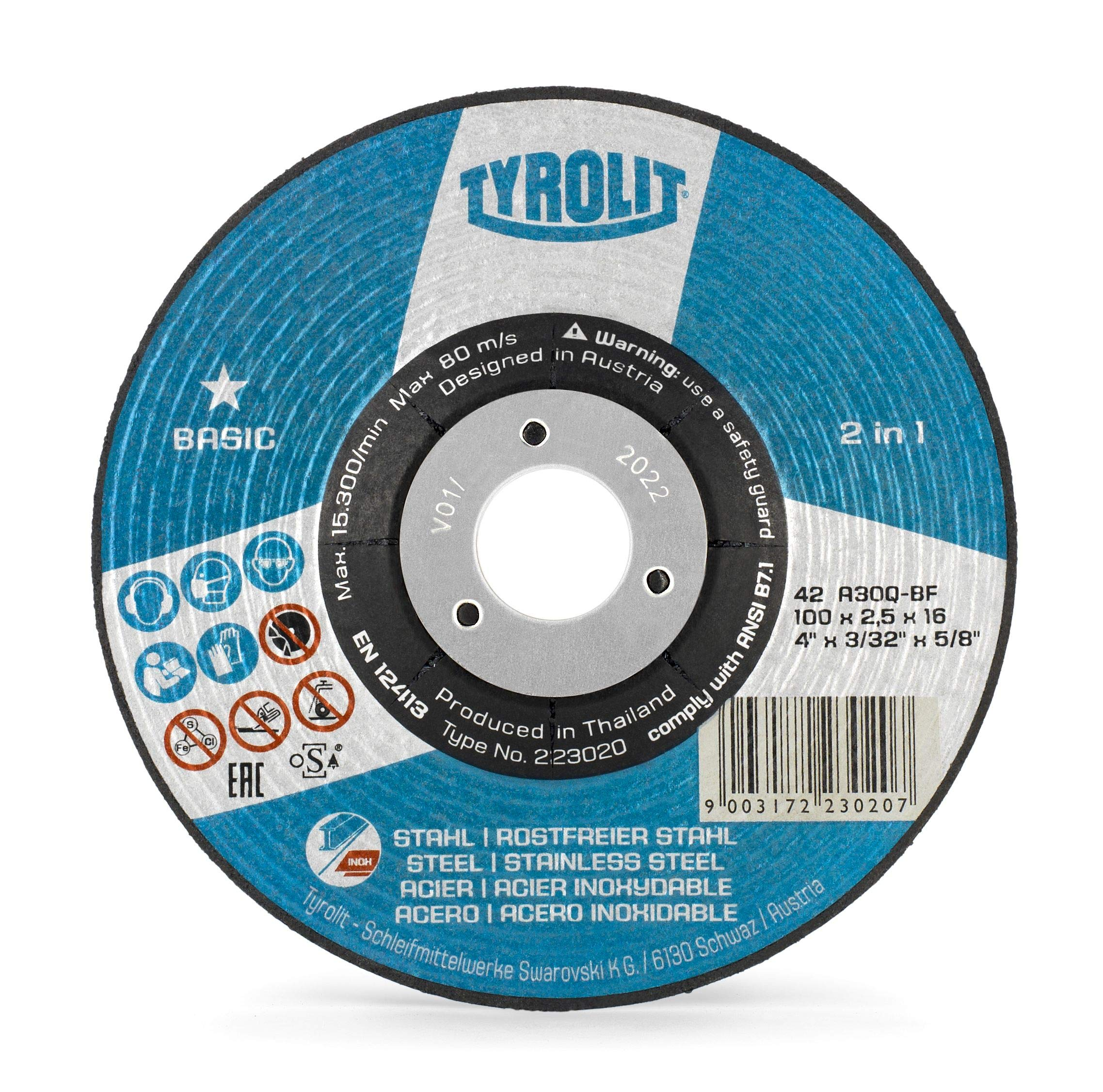"""25 Pcs Pack 4.5/"""" 1//16/"""" Cut-off Wheels 4.5 Cutting Discs Stainless Steel /& Metal"""
