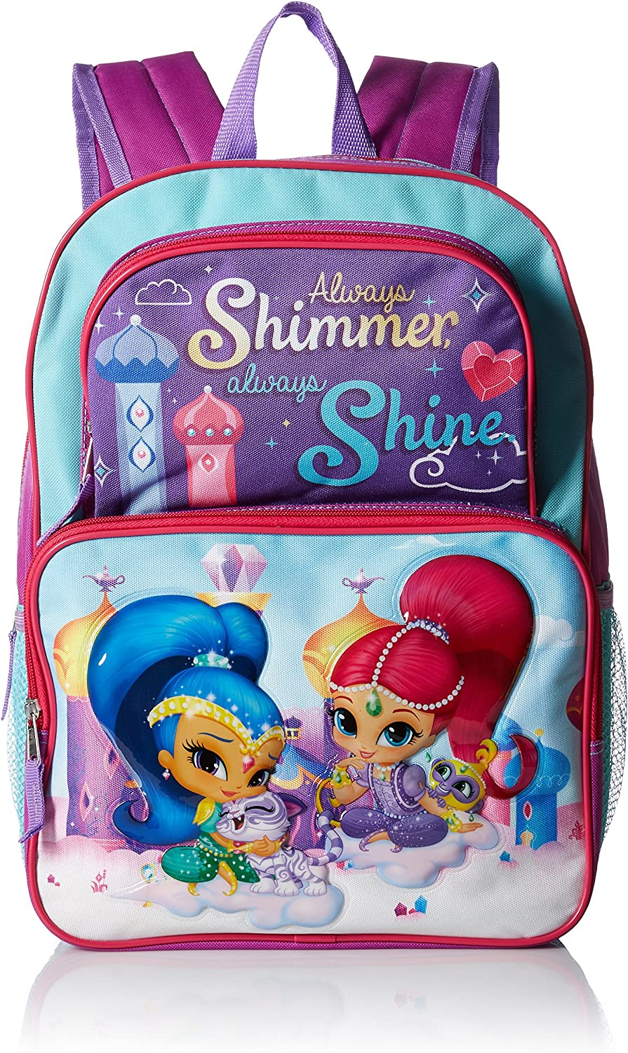 """Kitty 2-Way Sequins Critter 16/"""" Backpack w//detachable Lunch Bag Pink New"""