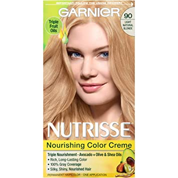 garnier nutrisse nourishing color creme 90 light natural blonde macadamia packaging may - Colores Garnier