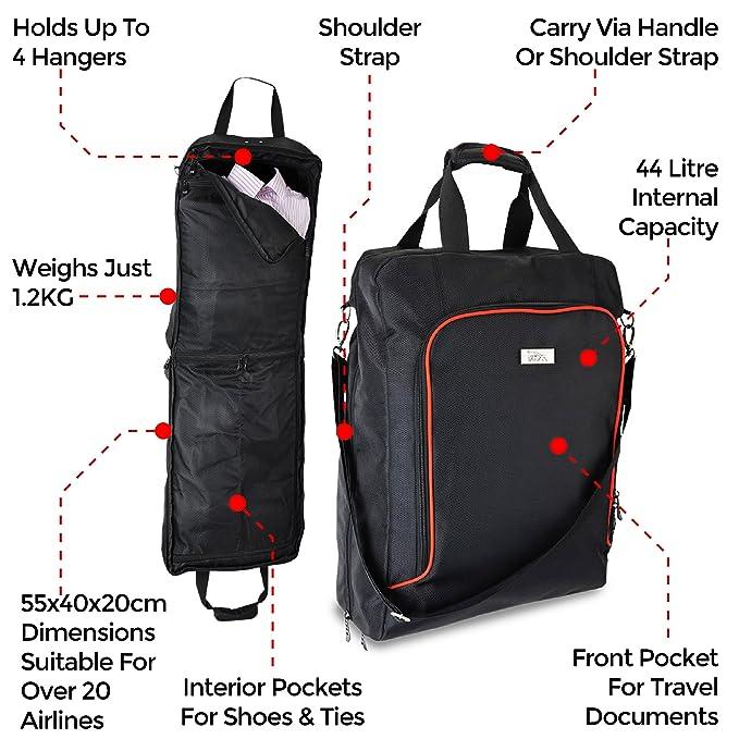 Porta trajes de viaje Cabin Max - 55x40x18cm (gris/púrpura)