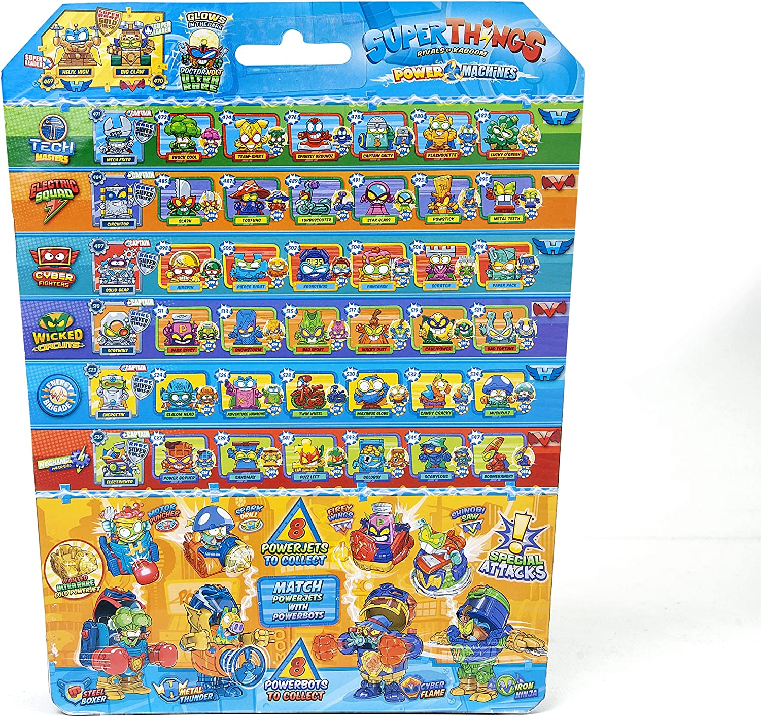 Amazon Com Superthings Power Machines Blister 10 Figures Contains 9 Superthings 1 Superthings Golden Toys Games