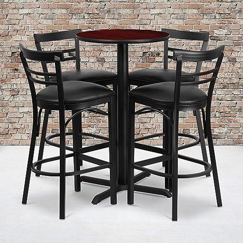 Flash Furniture 24 Round Mahogany Laminate Table Set