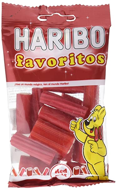 Haribo Favoritos Red Mix Geles Dulces - Paquete de 14 x 75 gr - Total: