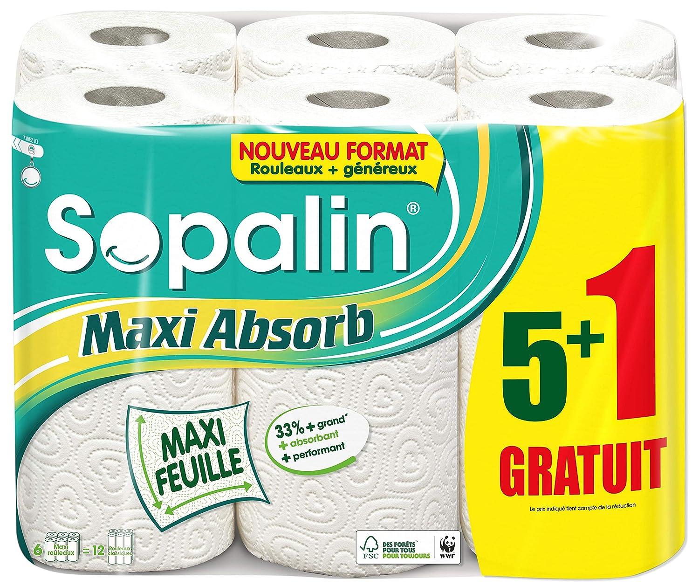 Sopalin Maxi Absorb Kitchen Roll 5 1 Roll 12 Rolls