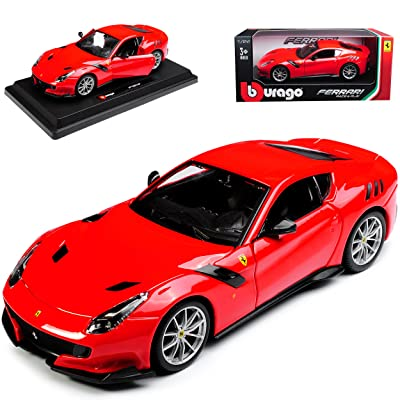 Burago 1/24 Scale Metal Model Car - 18-26021 - Ferrari F12tdf - Red: Toys & Games