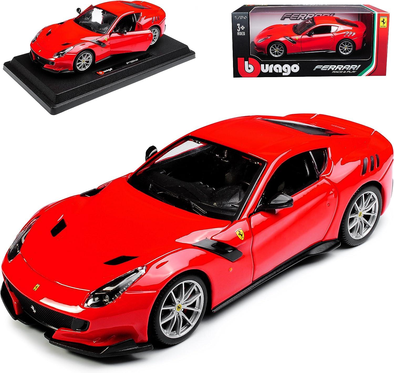 Burago 1//24 Ferrari F12 TDF Racing Car Model Diecast Alloy Toy Collection Red