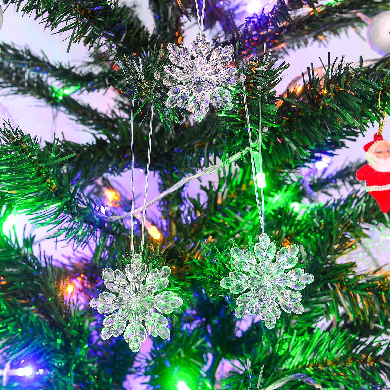 Amazon.com: Christmas Icicle Ornaments Set - 40 Pcs Clear Acrylic ...