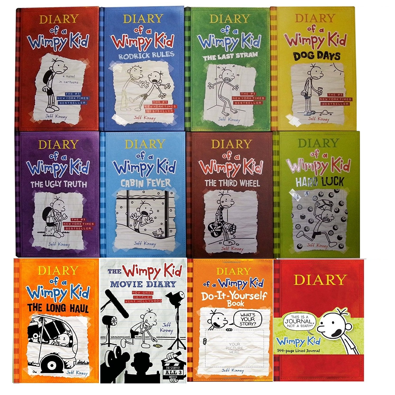 Diary of wimpy kid 12 book complete set books 1 9 movie diary diary of wimpy kid 12 book complete set books 1 9 movie diary diy journal amazon books solutioingenieria Image collections