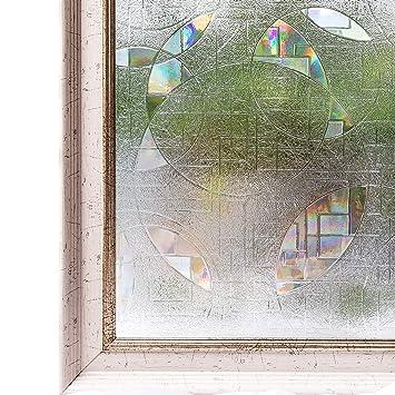 CottonColors Film Adhésif Décoratif Pour Vitrage 3D Statique Autocollant  Film Occultant Simple Mode Avec Couleur Pour