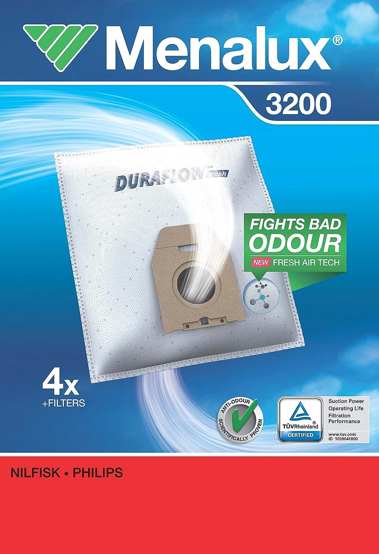 4 unidades Bolsas para aspiradoras Karstadt y Philips Menalux 3200 Duraflow