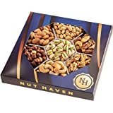 Holiday Christmas Nuts Gift Basket - Fresh Dry Roasted Salted Gourmet Nuts Gift Basket - Food Gift Basket for…