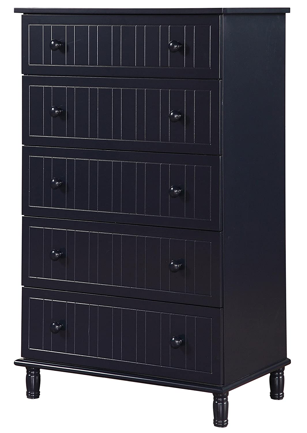 Coaster 400695 Zachary 5 Shelf Chest of Drawers with Cottage Style Design - Navy