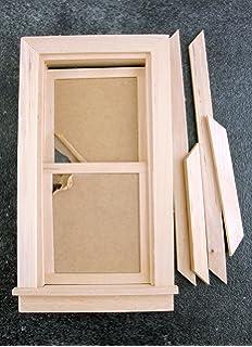 Amazon dollhouse miniature 12 scale 8 light window with dollhouse miniature traditional working window sisterspd