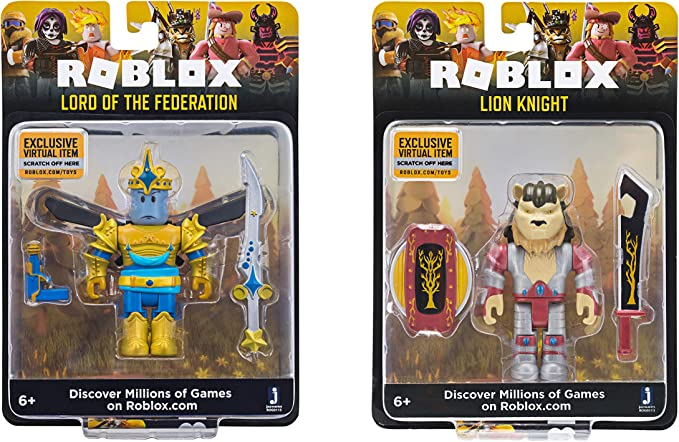 Roblox Celebrity Collection Lord of The Federation + Lion Knight (Two Figure Pack)