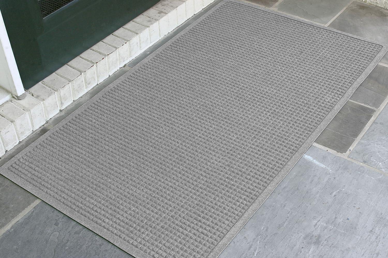 Andersen 280 Waterhog Fashion Polypropylene Fiber Entrance Indoor/Outdoor Floor Mat, SBR Rubber Backing, 5-Feet Length X 3-Feet Width, 3/8-Inch Thick, Medium Grey 5' Length x 3' Width 3/8 Thick 280-157-5F3F