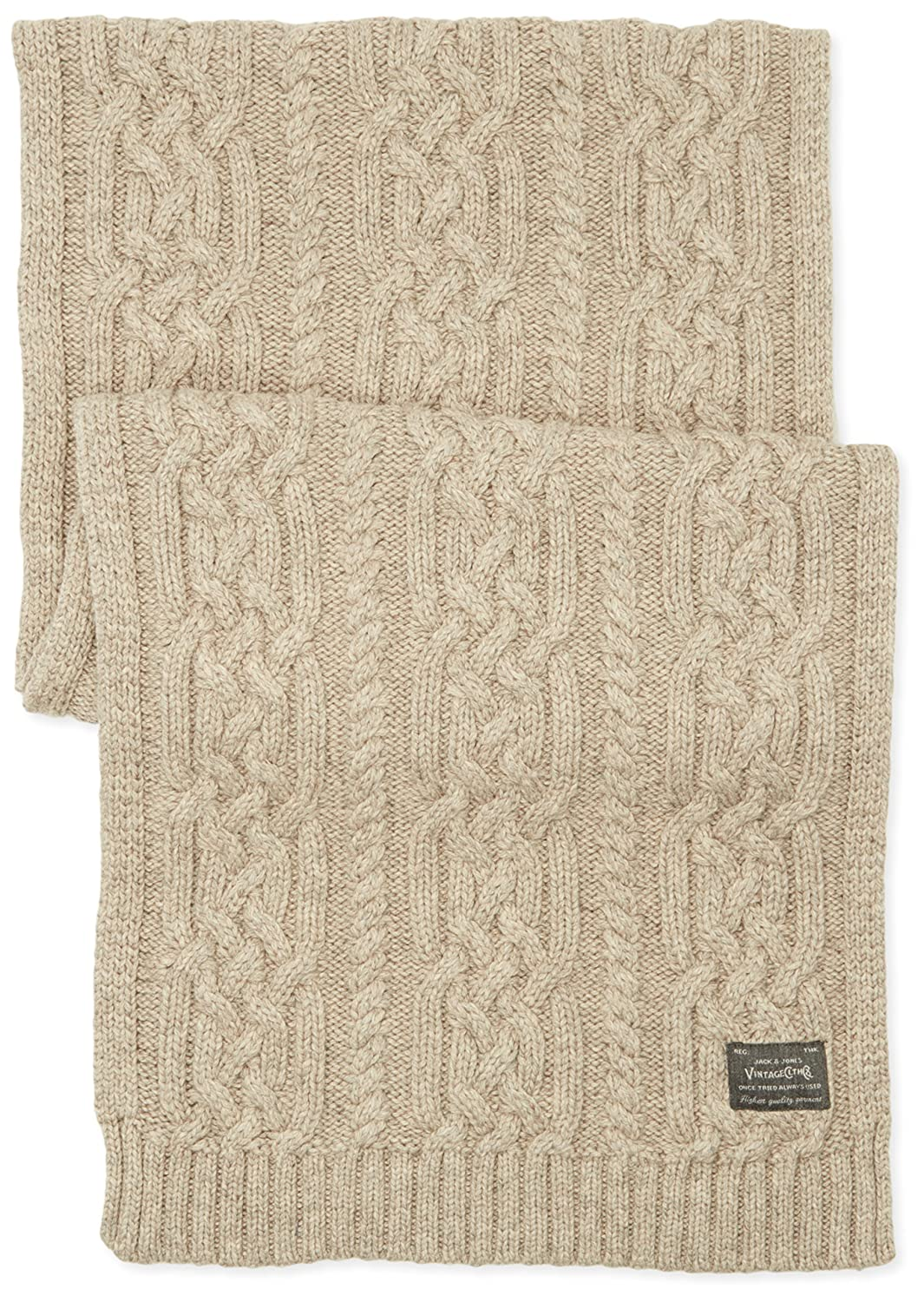 2f3e6e2e2fb42b JACK   JONES VINTAGE Herren Strickschal Jjvcable Knitted Scarf 12113795