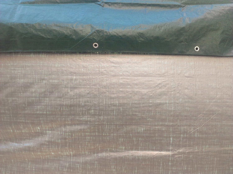 Item TGS-1214 Kotap 12-ft x 14-ft Heavy-Duty 12 by 12 Cross Weave 8-mil Reversible Green//Silver Poly Tarp