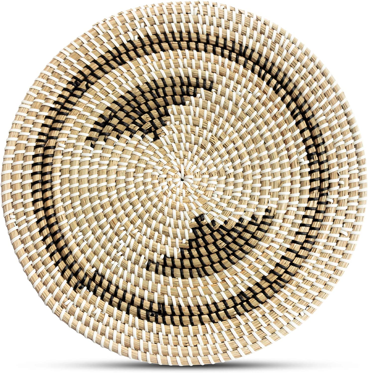 Rattan Trivets for Hot Dishes - Woven Trivets Handmade Placemats for Dining Table - Boho Wall Hanging Decorative Plate - Rattan Wall Decor - Subtle Gifts for Friends (30cm/11.7in)