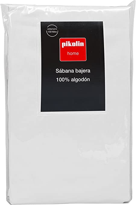 Pikolin Home - Sábana Bajera Ajustable, 100% Algodón, 105x200cm-Cama 100/105 (Todas las medidas): Amazon.es: Hogar