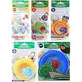 "Bundle of Five (5) Quick Yo-Yo Makers: Extra Small (makes 3/4"" yo-yos), Small (makes 1.25"" yo-yos), Large (makes 1.75"" yo-yos"