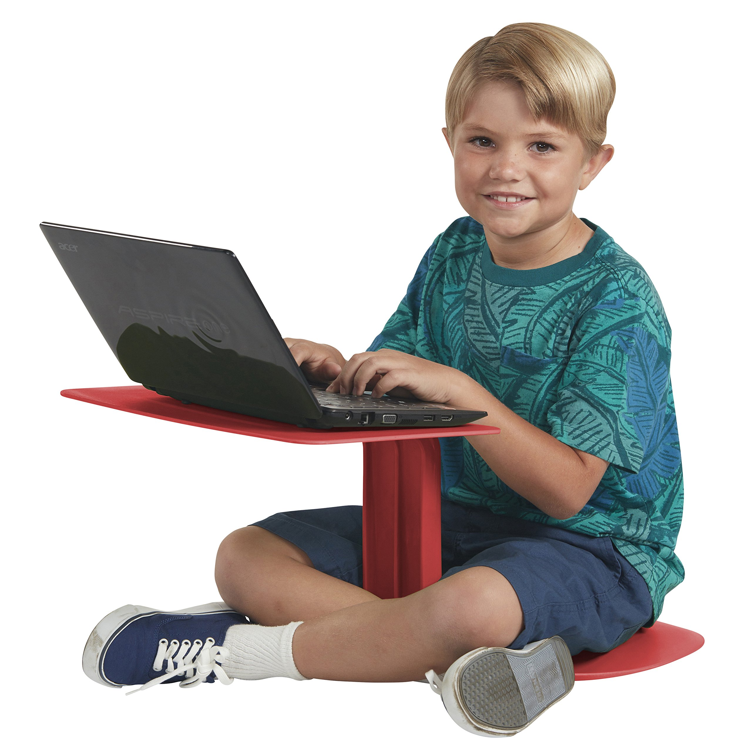 ECR4Kids The Surf Portable Lap Desk/Laptop Stand/Writing Table, Red by ECR4Kids