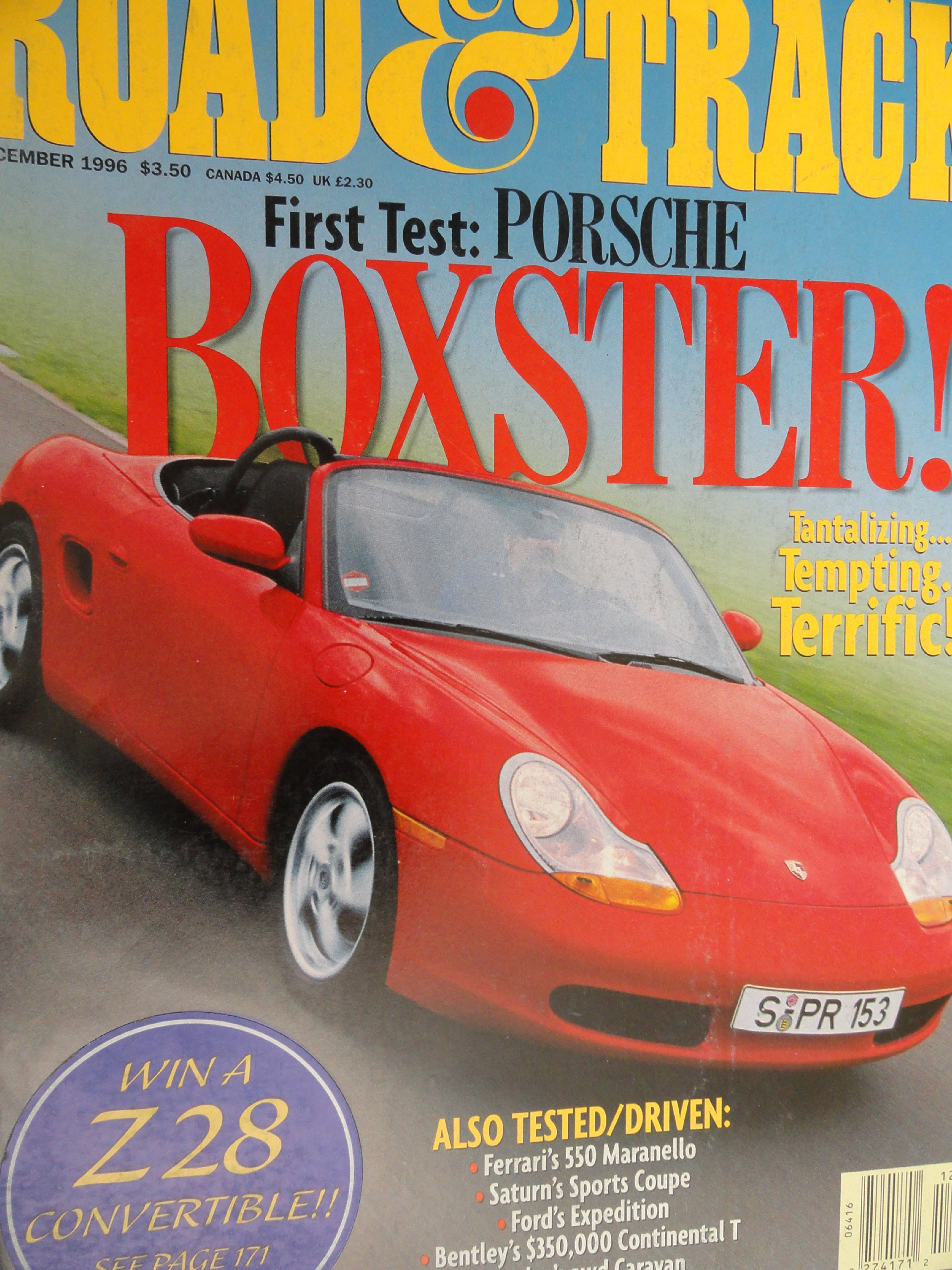 1997 Porsche Boxster / Saturn SC2 / Ford Expedition Road Test: Road and  Track Magazine: Amazon.com: Books