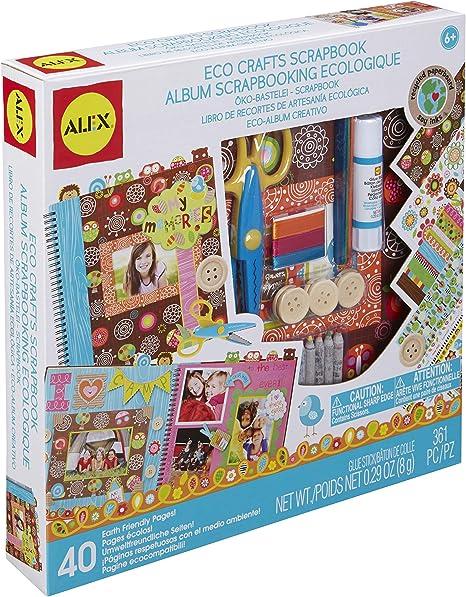 Amazon Com Alex Craft Eco Crafts Scrapbook Kids Art And Craft Activity Toys Games