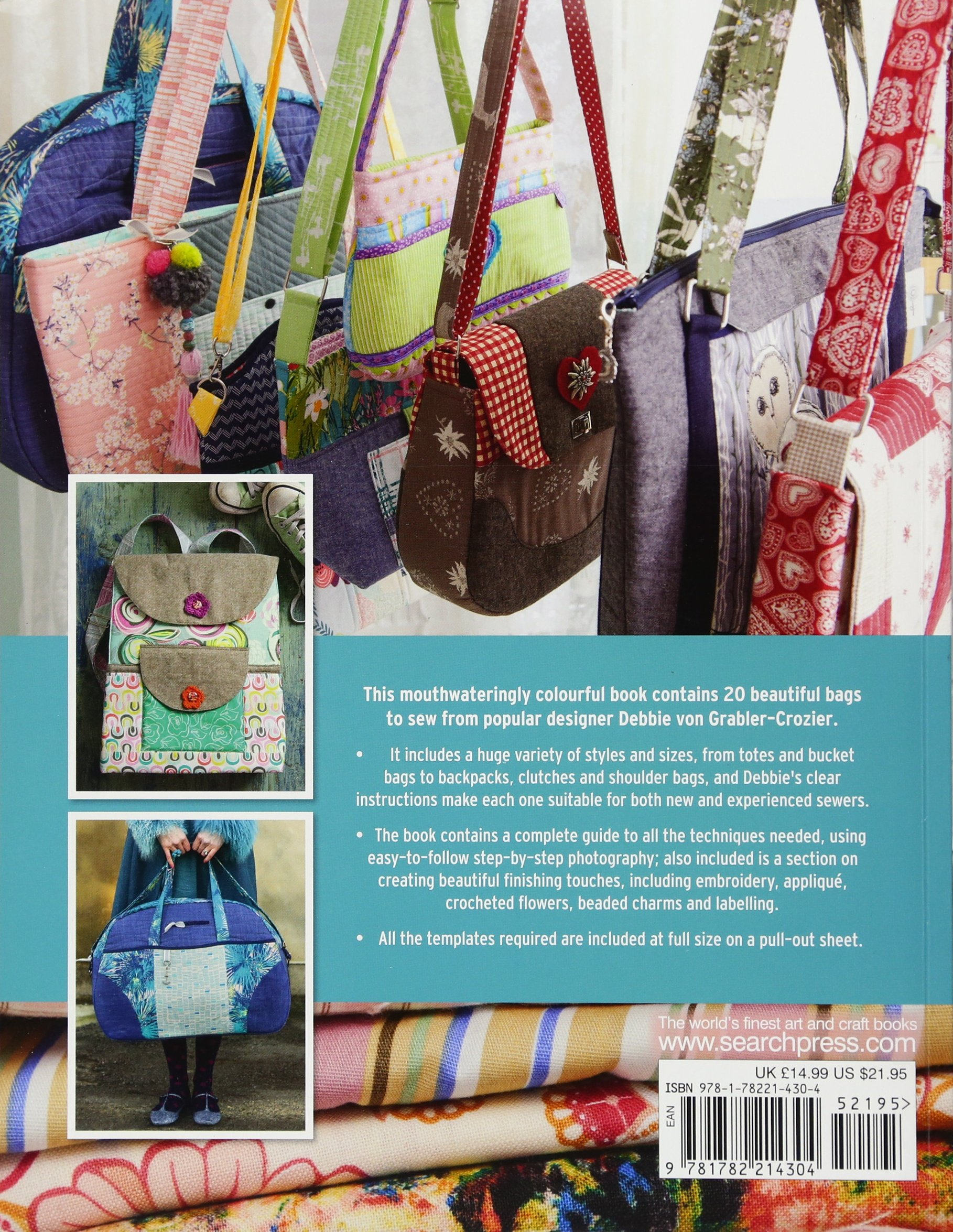 The Bag Boutique  20 Bright and Beautiful Bags to Sew  Amazon.co.uk  Debbie  von Grabler-Crozier  9781782214304  Books f0915b560cc61