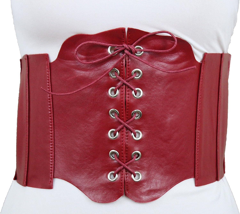 Women Ladies Stylish Wide Hip Elastic Stretchy Corset Cinch Waistband Waist Belt