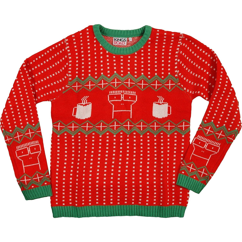 Amazon.com: Descendents Men's 2014 Holiday Knit Sweater Sweatshirt ...