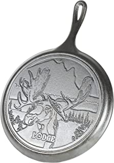 "product image for Lodge Wildlife Series-10.5"" Cast Iron Griddle with Moose Scene, 10.5"", Black"